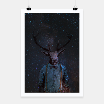 Space Deer Poster miniature