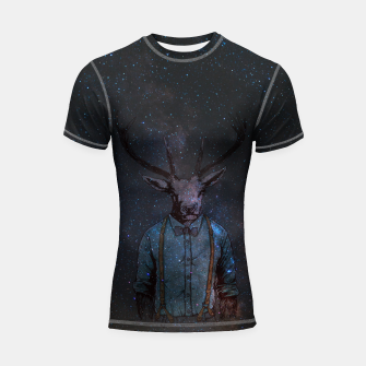 Thumbnail image of Space Deer Shortsleeve rashguard, Live Heroes