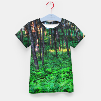 Thumbnail image of Patchy Sunlight in The Woods Kid's t-shirt, Live Heroes