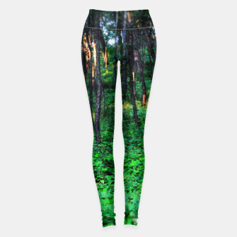 Thumbnail image of Patchy Sunlight in The Woods Leggings, Live Heroes