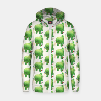 Thumbnail image of Topiary Dog Zip up hoodie, Live Heroes
