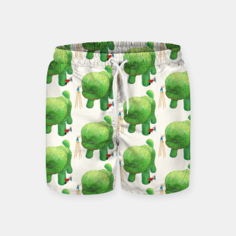 Thumbnail image of Topiary Dog Swim Shorts, Live Heroes