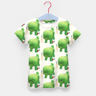 Thumbnail image of Topiary Dog Kid's t-shirt, Live Heroes