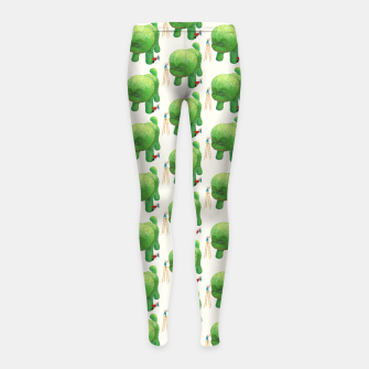 Thumbnail image of Topiary Dog Girl's leggings, Live Heroes