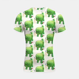 Thumbnail image of Topiary Dog Shortsleeve rashguard, Live Heroes