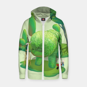 Thumbnail image of Topiary Garden Zip up hoodie, Live Heroes