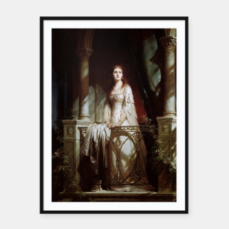 Thumbnail image of Juliet by Thomas-Francis Dicksee Framed poster, Live Heroes