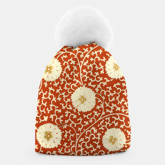 Thumbnail image of cream dahlia pattern - elegant Chinese motifs  Beanie, Live Heroes