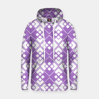 Thumbnail image of Abstract geometric pattern - purple and white. Hoodie, Live Heroes