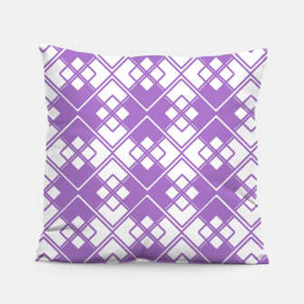 Thumbnail image of Abstract geometric pattern - purple and white. Pillow, Live Heroes