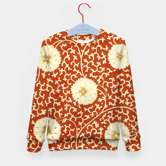 Thumbnail image of cream dahlia pattern - elegant Chinese motifs  Kid's sweater, Live Heroes