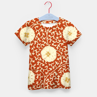 Thumbnail image of cream dahlia pattern - elegant Chinese motifs  Kid's t-shirt, Live Heroes
