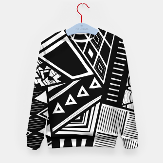 Thumbnail image of  B&W Tribal Medley Kid's sweater, Live Heroes