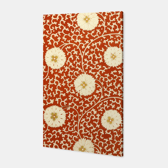 Thumbnail image of cream dahlia pattern - elegant Chinese motifs  Canvas, Live Heroes