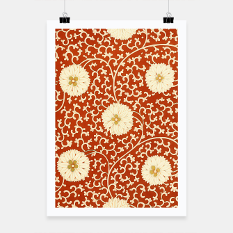 Thumbnail image of cream dahlia pattern - elegant Chinese motifs  Poster, Live Heroes