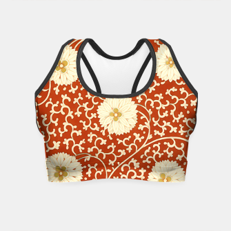 Thumbnail image of cream dahlia pattern - elegant Chinese motifs  Crop Top, Live Heroes