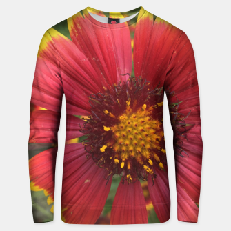 Thumbnail image of Red and Orange Flower Unisex sweater, Live Heroes