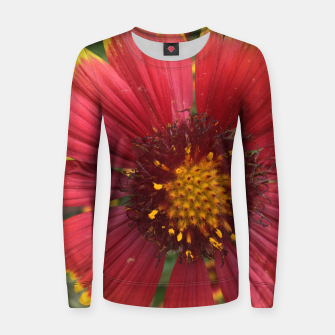 Thumbnail image of Red and Orange Flower Women sweater, Live Heroes