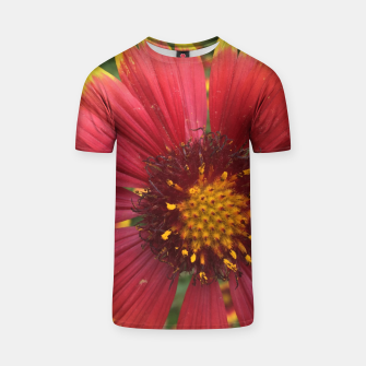 Thumbnail image of Red and Orange Flower T-shirt, Live Heroes
