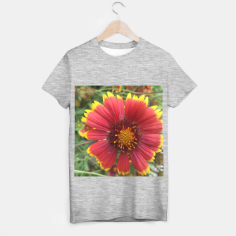 Thumbnail image of Red and Orange Flower T-shirt regular, Live Heroes
