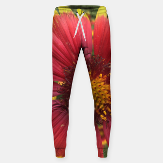 Thumbnail image of Red and Orange Flower Sweatpants, Live Heroes