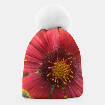 Thumbnail image of Red and Orange Flower Beanie, Live Heroes