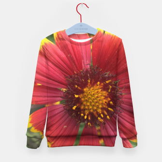 Thumbnail image of Red and Orange Flower Kid's sweater, Live Heroes
