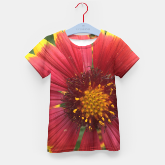 Thumbnail image of Red and Orange Flower Kid's t-shirt, Live Heroes