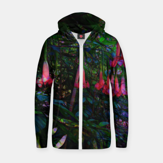 Pink Trumpet Flowers Zip up hoodie thumbnail image