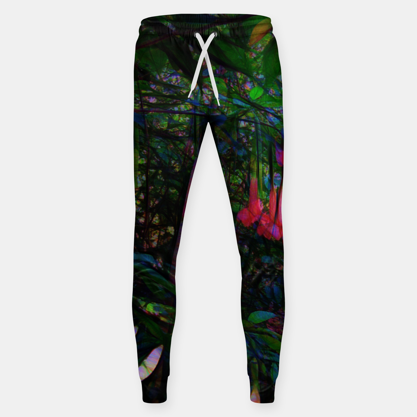 Image of Pink Trumpet Flowers Sweatpants - Live Heroes