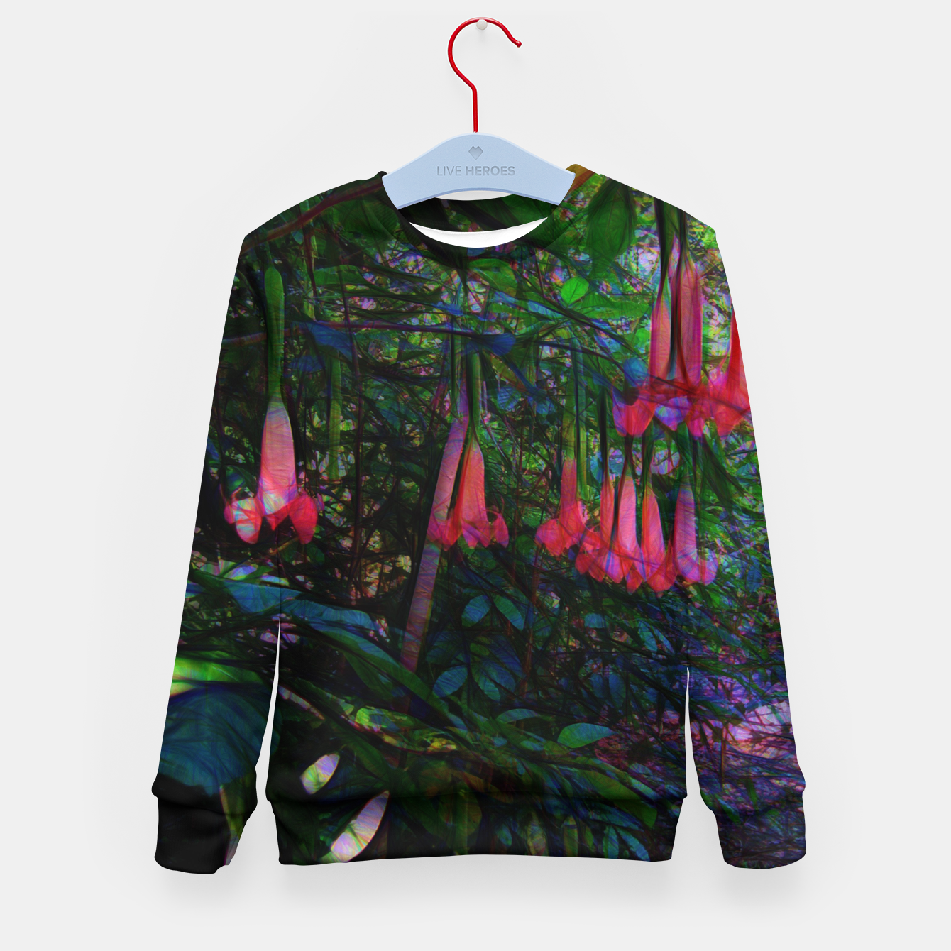 Image of Pink Trumpet Flowers Kid's sweater - Live Heroes