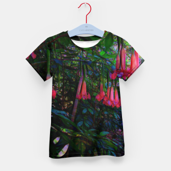 Thumbnail image of Pink Trumpet Flowers Kid's t-shirt, Live Heroes