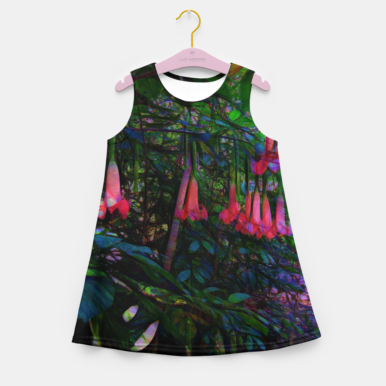 Image of Pink Trumpet Flowers Girl's summer dress - Live Heroes
