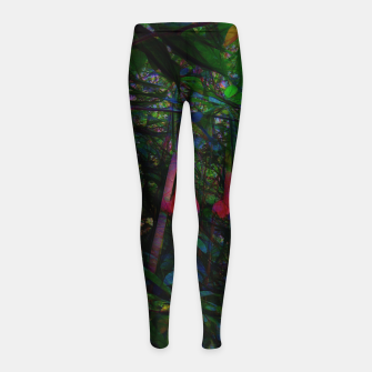 Pink Trumpet Flowers Girl's leggings thumbnail image