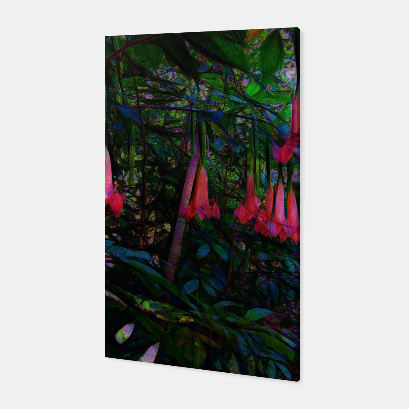 Image of Pink Trumpet Flowers Canvas - Live Heroes