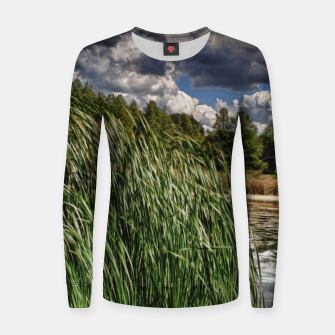 Thumbnail image of Reeds Along a Campground Lake Women sweater, Live Heroes