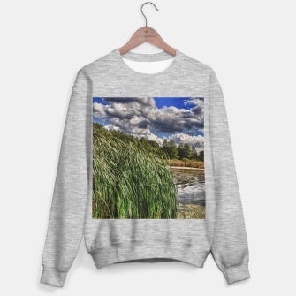 Thumbnail image of Reeds Along a Campground Lake Sweater regular, Live Heroes