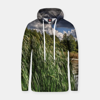 Thumbnail image of Reeds Along a Campground Lake Hoodie, Live Heroes