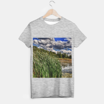 Thumbnail image of Reeds Along a Campground Lake T-shirt regular, Live Heroes