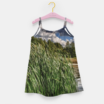 Thumbnail image of Reeds Along a Campground Lake Girl's dress, Live Heroes