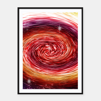 Thumbnail image of Rainbow Sparkle Swirl Framed poster, Live Heroes