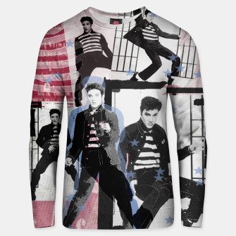 Miniatur Jail House rock collage Unisex sweater, Live Heroes