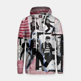 Miniatur Jail House rock collage Hoodie, Live Heroes