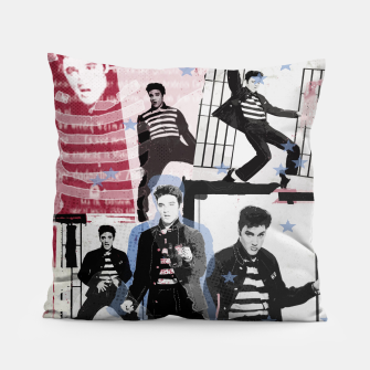 Miniatur Jail House rock collage Pillow, Live Heroes