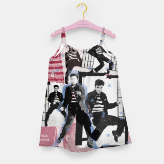 Miniatur Jail House rock collage Girl's dress, Live Heroes