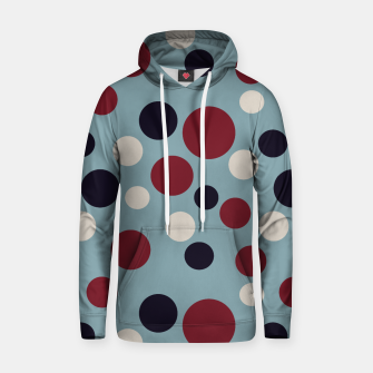 Thumbnail image of Red and Dark blue Dots on Blue Hoodie, Live Heroes