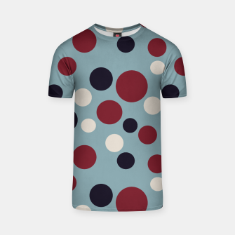 Thumbnail image of Red and Dark blue Dots on Blue T-shirt, Live Heroes