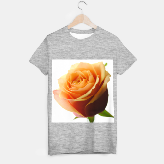 Thumbnail image of Orange Rose on White T-shirt regular, Live Heroes