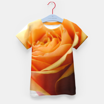 Thumbnail image of Orange Rose on White Kid's t-shirt, Live Heroes