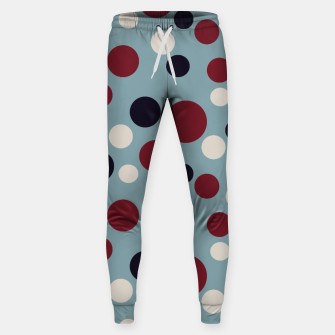 Thumbnail image of Red and Dark blue Dots on Blue Sweatpants, Live Heroes